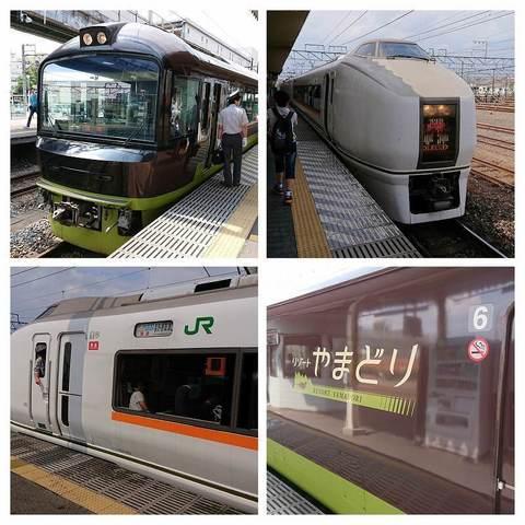 新前橋駅でリゾートやまどり、特急草津.jpg